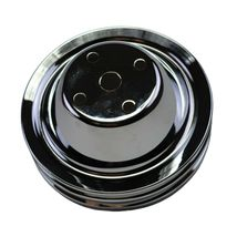 Long Water Pump Pulley LWP Double-Groove For Small Block Chevy SBC 262 327 400 image 7