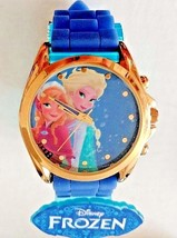 Disney Frozen Analog Display Girl's Watch w/Blue Silicone Rubber Strap - $20.36