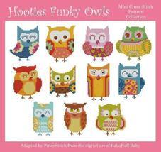 Hooties Funky Owls cross stitch chart Pinoy Stitch - $13.50