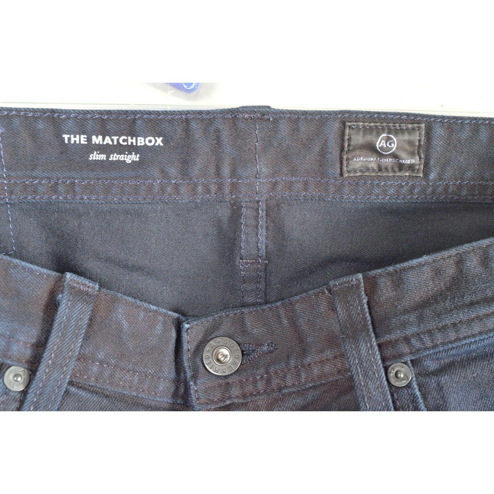 AG Adriano Goldschmied jeans 30 x 34 men Matchbox dark Slim Straight tall unique image 5