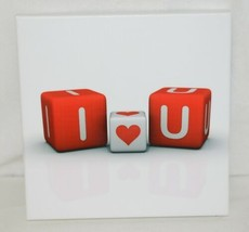Unbranded SA8646C White Background I Love You On Red Dice Wall Hanging Picture image 1