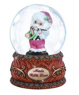 Precious Moments Annual Santa with Rocking Horse Waterball - $20.76