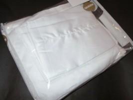 Sferra 4P Sateen Queen Hemstitch Long Staple Cotton Sheet Set 600tc Whit... - $193.95