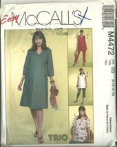 McCall's Sewing Pattern 4472 Misses Maternity Dress Top Pants 8 10 12 14... - $9.99