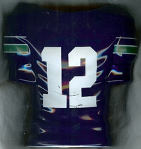 1990 seattle seahawks football jersey flower vase 12th man fans season t... - $99.99