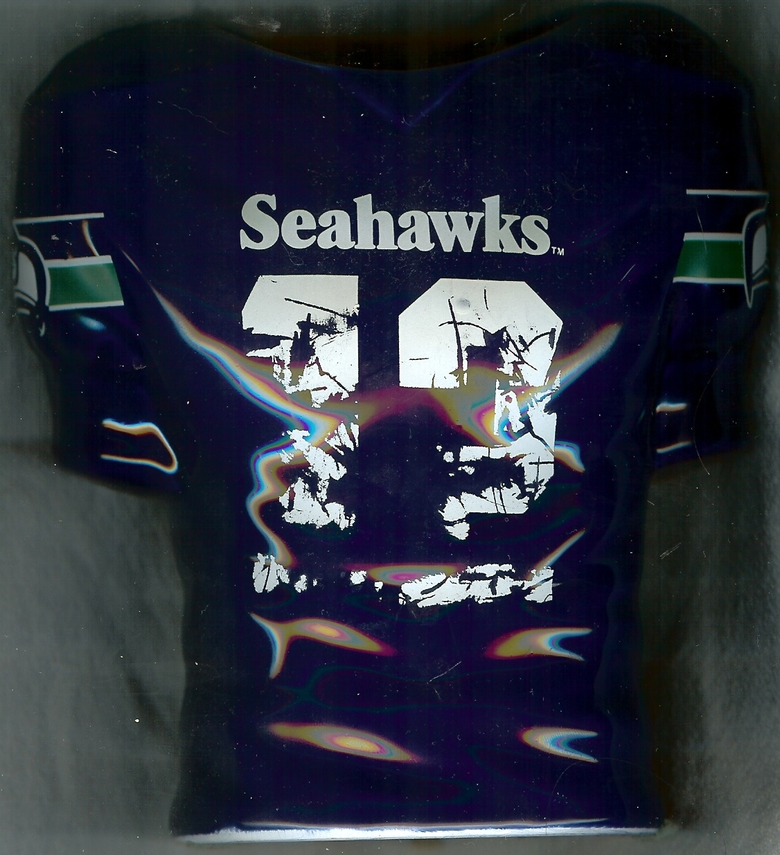 1990 seattle seahawks football jersey flower vase 12th man fans season tickets