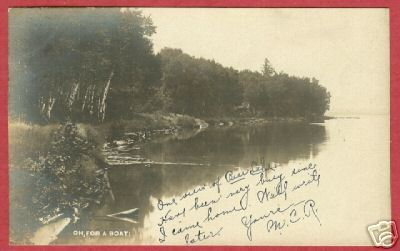 Bear Lake MI 1906 Real Photo Postcard BJs