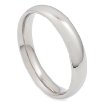 Stainless Steel Polish Comfort Fit Round Face Band Ring 4mm US Size 13 - $6.99