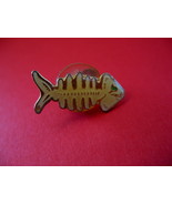 Skeleton of a Fish Lapel Pin Hat Pin Collector Bones Souvenir Vintage - $4.99