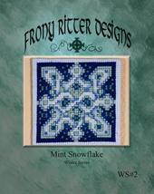 Mint Snowflake cross stitch chart Frony Ritter Designs  - $3.60