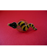 Yellow and Green Snake Lapel Pin Hat Pin Collector Souvenir Vintage - $4.99