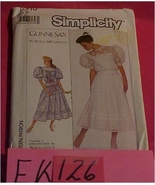 Pattern, Sewing, Simplicity #8610,  Size 6 Gunne Sax Dress 1988 - $5.00