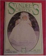 Pattern, Sewing, Syndee's Crafts, Doll Christening Pattern #24011 - $6.00