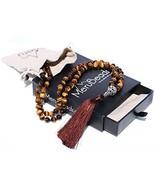 Premium Exotic Tiger Eye Mala Beads Necklace - Japa Mala - Buddha Neckla... - $44.65