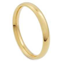 Stainless Steel Polish Gold Color Comfort Fit Round Face Band Ring 3mm US Size 7 - $6.99