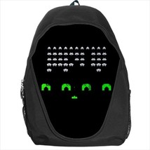 backpack space invaders retro geek pixel nerd 8 bit dos gamer shooter coin flopp - $39.79