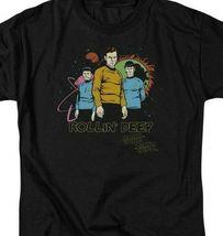 Star Trek t-shirt Rollin Deep animated sci-fi TV series graphic tee CBS955 image 3