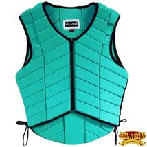 L,M,S Hilason Adult Safety Equestrian Eventing Protective Vest Turquoise U-V137 - $62.99