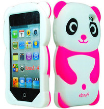 Cute Pink Panda 3D Animal Silicone Case Cover for iPod Touch 4th Generat... - $5.89