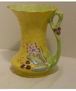 "James Kent England Large 7"" Yellow & Green Floral Pitcher/Jug - Bramble ... - $34.98"