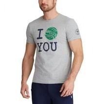POLO Ralph Lauren x Wimbledon I Love You T-Shirt Tennis Gray Size M *NEW... - $85.03