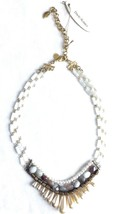 David Aubrey Hadrien Multi-Strand & Stones Simulated Pearl Statement Necklace image 1