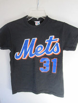 Boys New York METS Black Short Sleeves Shirt Size M - $7.69
