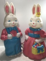 """Vintage General Foam Mr & Mrs Bunny Blow Molds 26"""". NEW SEE PICS! - $296.95"""