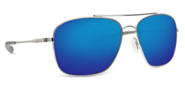 Costa Del Mar CAN 21 OBMGLP Canaveral Palladium Blue Mirror Sunglasses - $260.37