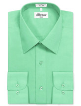 Berlioni Italy Men Mint Classic French Convertible Cuff Solid Dress Shirt - XL image 2