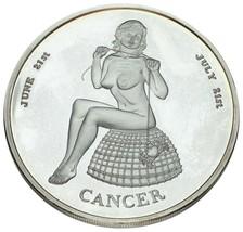 Connoiseur's Club 5 Oz 999 Silver Round Zodiac Cancer Nice Collectible - $247.50