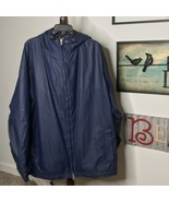 Auburn Sportswear Men's XL Navy Full Zip Drawstring Hood & Waist Rain Ja... - $14.86