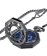 Mudder Vintage Mechanical Hand-wind Skeleton Pocket Watch With Chain Xma... - $55.47