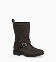 UGG Glendale Women Waterproof Fur Lined Moto Boots Size US 5.5 Black Lea... - $114.00