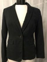 Banana Republic Women's Blazer Faded Black 1 Button Lined Stretch Size 8 - $39.59