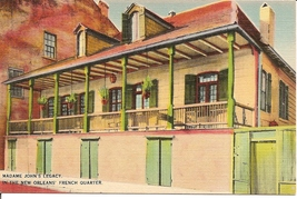 Madame John's Legacy, French Quarter, New Orleans, Louisiana  Vintage Po... - $3.75