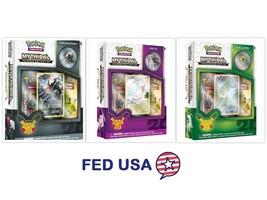 3 Pokemon Mythical Pin Boxes: Mythical CELEBI, Mythical MEW, DARKRAI Gen... - $55.99