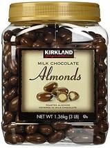 Kirkland Signature HTGFD Milk Chocolate Roasted Almonds, 2 Pack 48 Ounce - $47.97