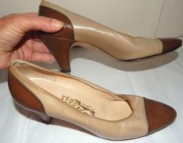 Vintage SALVATORE FERRAGAMO  Cap Toe Heels Pumps womens 6.5AA - $17.81