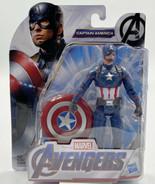 Hasbro Marvel Avengers CAPTAIN AMERICA 6 Inch Action Figure NEW - $14.84
