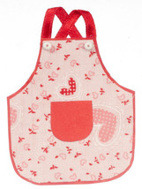 DOLLHOUSE MINIATURES RED APRON #G7457 - $8.90