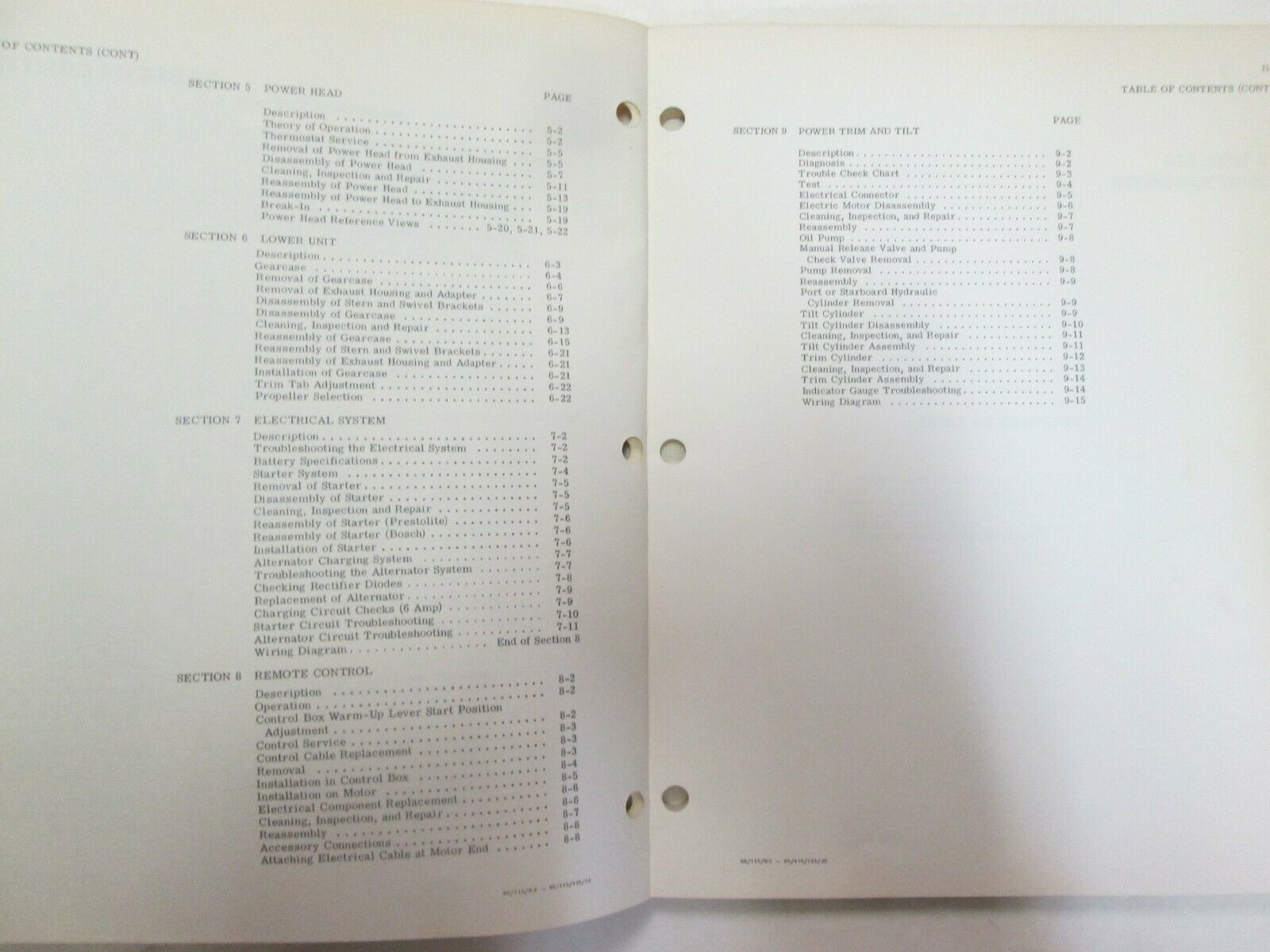 1975 Johnson Außenborder 85 HP Modell 85ESL75 Service Reparatur Shop Manual JM image 4