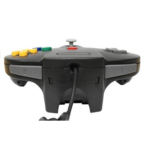 Nintendo Black Replacement Controller By Mars Devices Gamepad For N64