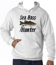 SEA BASS HUNTER - NEW COTTON WHITE HOODIE - $39.55