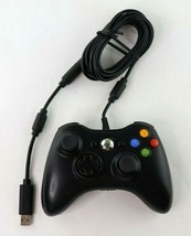 Official Microsoft Xbox 360 Black Wired Controller Genuine Authentic With USB - $24.95