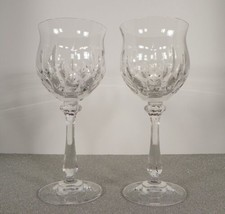 Mikasa Crystal NORMANDY Glass Water Goblet (s) LOT OF 2 Germany Vertical... - $29.65