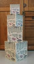 Set 4 Pfaltzgraff Naturewood Paper Nesting Boxes - $8.90