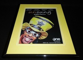 UnSung 2010 TV One Framed ORIGINAL Advertisement Bootsy Collins Teena Marie - $22.55