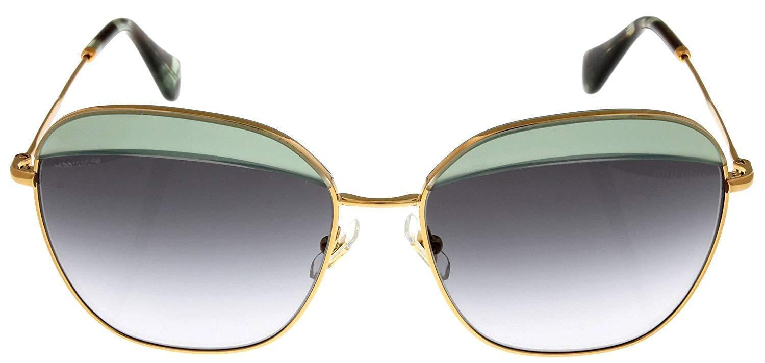 Miu Miu Sunglasses Women MU53QS TWG3E2 Opal Green Square
