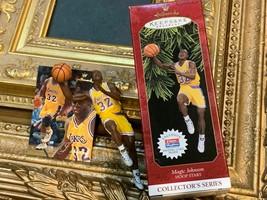 HALLMARK KEEPSAKE ORNAMENT TRADING CARD LAKERS MAGIC JOHNSON HOOP STAR 3... - $10.35